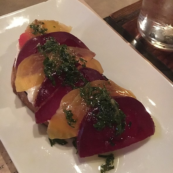 Beet And Goat Cheese Open Face