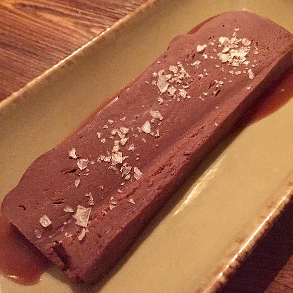 House Made Chocolate Fudge Slab On Caramel With Salt @ Salt