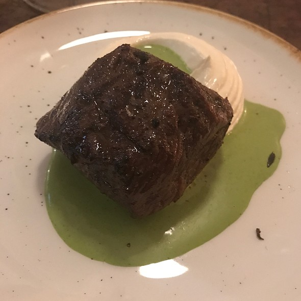 Beef With Cow's Curd & Soft Herb Vinegar