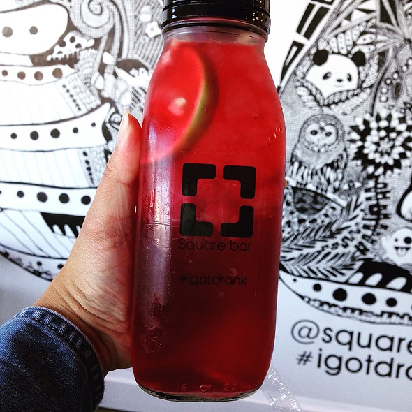 Strawberry Hibiscus Drink @ Square Bar Cafe