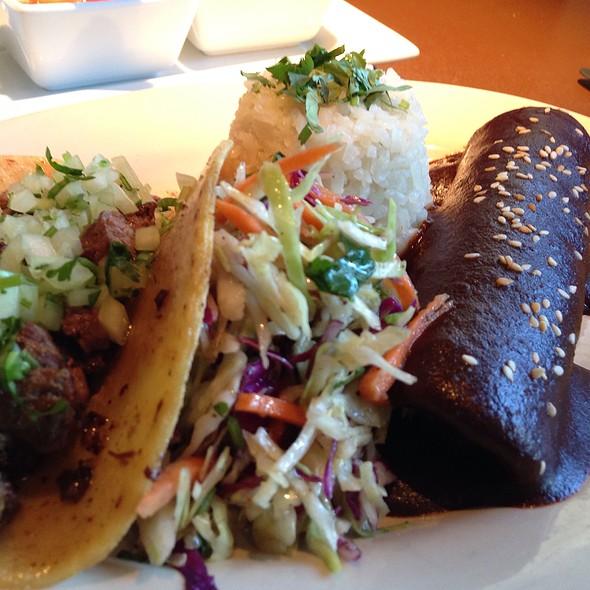 Mole Chicken Enchilada & Carne Asada Taco @ Mesero - Prestonwood