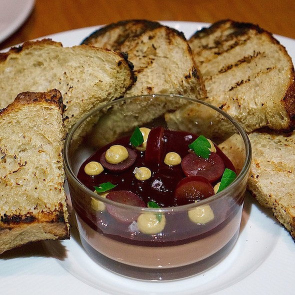 Chicken liver mousse, concord grape jelly, sourdough, pumpkin seed butter