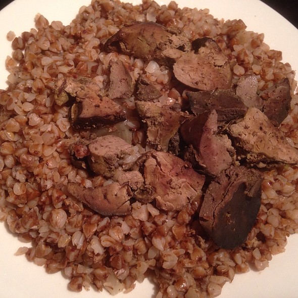 Braised Chicken Liver with Boiled Buckwheat