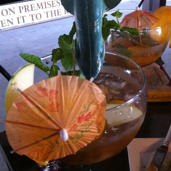Mood Enhancing Iced Tea @ Madam Tojo Cafe & Bar