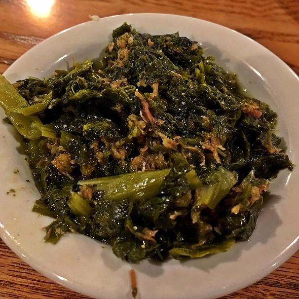 turnip greens @ Cracker Barrel