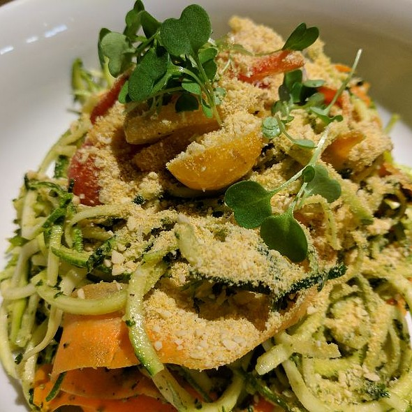 Raw Pesto Pasta @ Fern, Flavors From The Garden