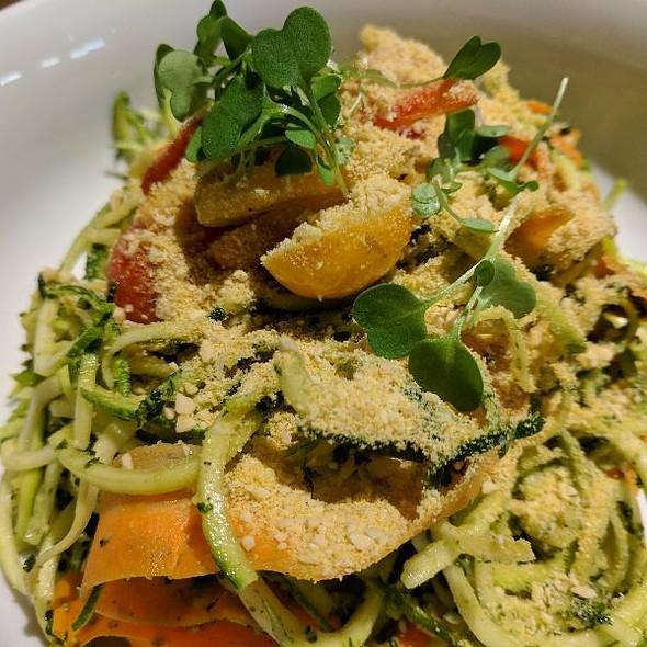 Raw Pesto Pasta @ Fern, Flavors From The Garden