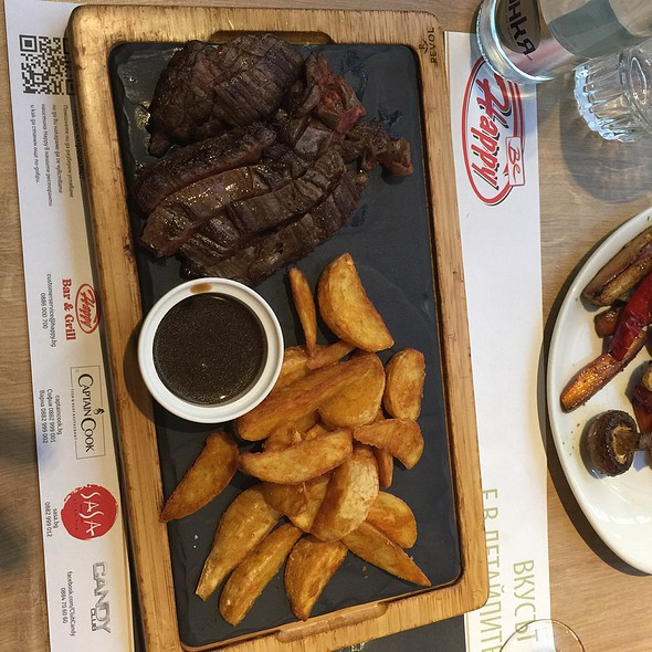 Grilled Fillet Of Beef And French Fries @ Happy Bar & Grill