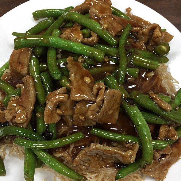 Green Beans W/ Beef Rice Noodle