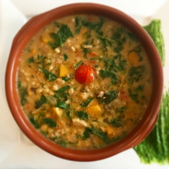 Tuscan Spelt, Pumpkin And Mushroom Soup @ La Fattoria del Chianti