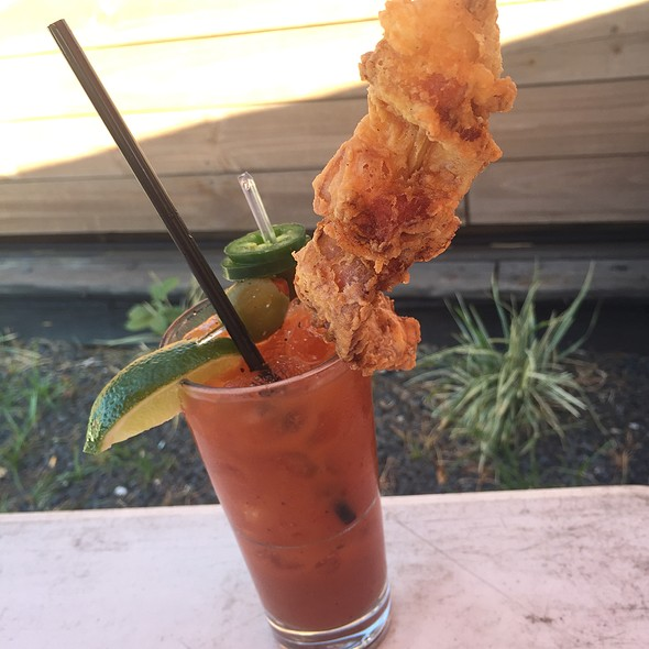 Bloody Mary + Chicken Fried Bacon @ Revolver