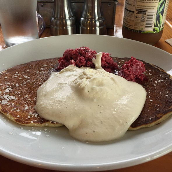 Pancakes With Cranberry Butter @ Valley Commissary