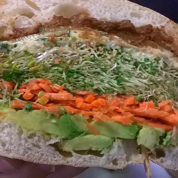 The guac and mole sandwich @ The Bronze Cafe