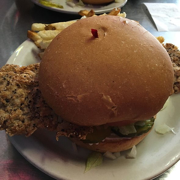 Chicken Fried Steak Sandwich @ Fred's Texas Cafe
