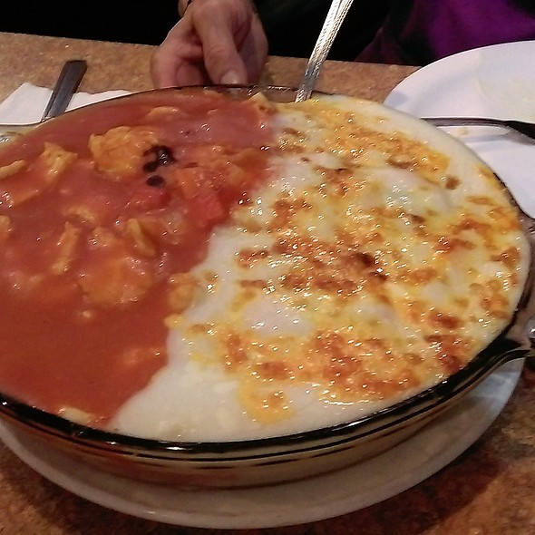 Baked Rice half in Tomato & half in Cream Sauce @ phoenix chinese restaurant