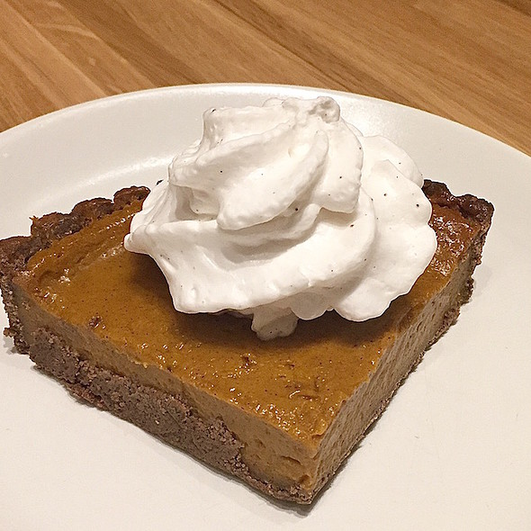 Squash pie, graham crust, coconut whipped cream @ True Food Kitchen