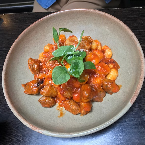 Gnocchi With Italian Pork Sausage, Chilli, Caramelised Onion, Napoletana Sauce
