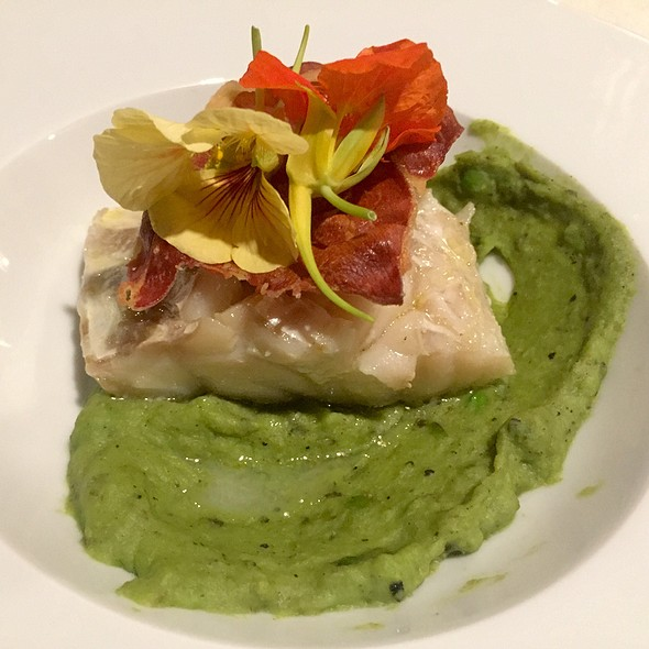 Conger Eel With Green Pea Puree And Proscuitto