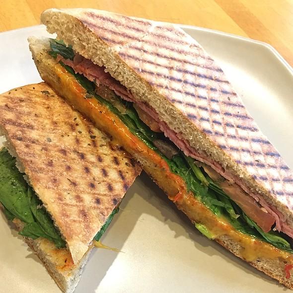 Grilled Spicy Italian Sandwich @ O-Cha Bar Tea Yaletown