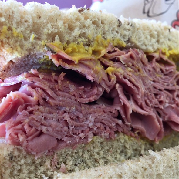Corned Beef On Rye With Mustard @ J's Deli