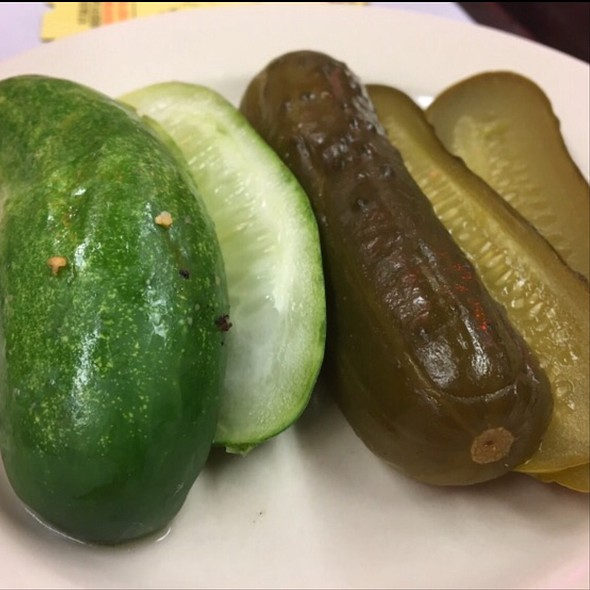 Deli Pickles @ Katz's Delicatessen Inc