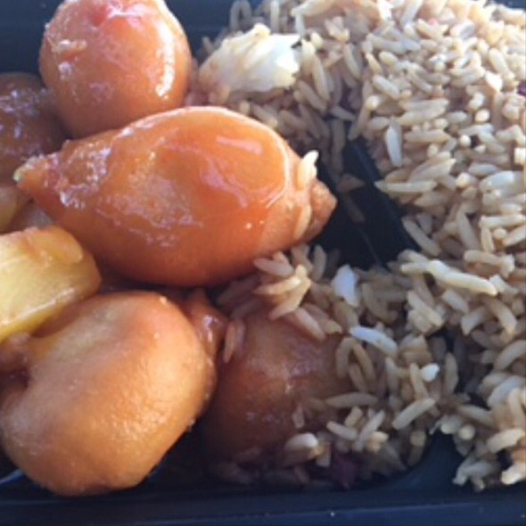 Sweet And Sour Chicken With Pork Fried Rice @ Khoo Kitchen - Chinese Restaurant