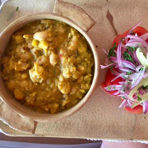 Corn And Potato Stew With Tomato, Onion, And Green Chili Salad @ Awasi Atacama