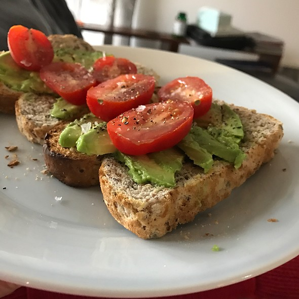 Avocado And Cherry Tomato On Toast @ Chookys