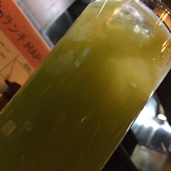 緑茶割り @ とんかつ入船
