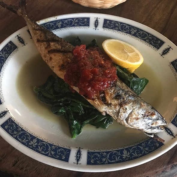 Grilled Mackerel, Spinach And Chilli Jam