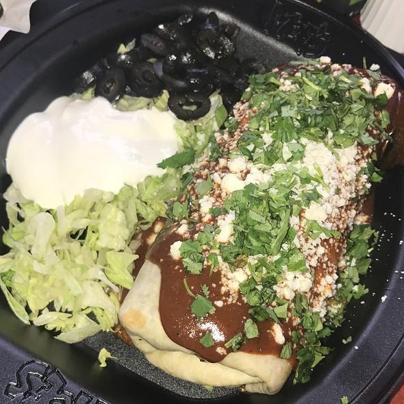 Mole Smothered Burrito