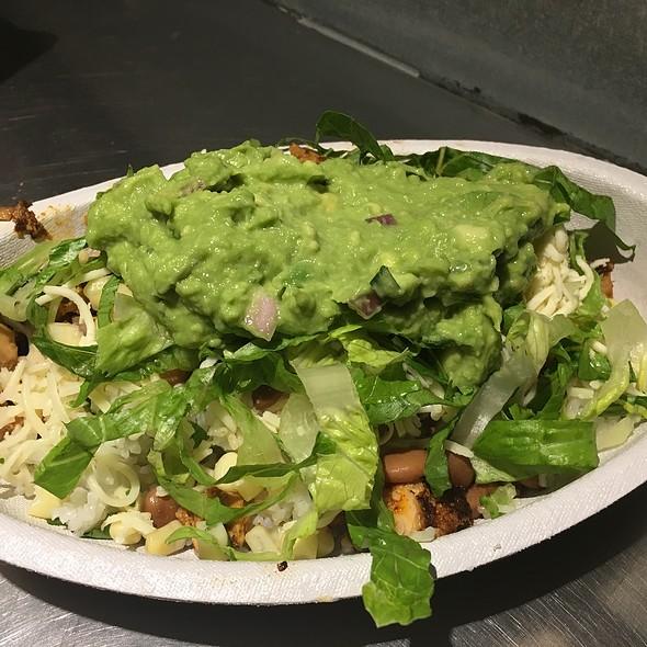 Chicken Burrito Bowl And Avocado