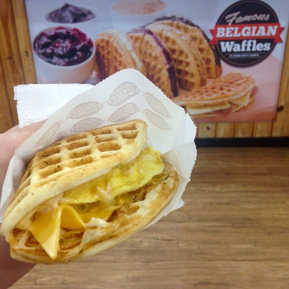 Egg And Cheddar Waffle