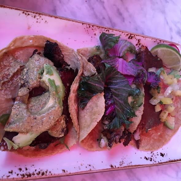 Filet Mignon, Sea Bass & Chicken Al Pastor Tacos @ Puesto Mexican Street Food