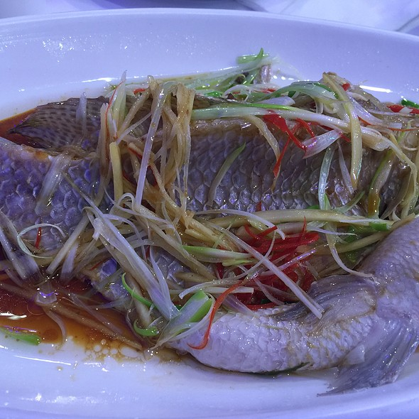 Steamed Whole Fish W/ Ginger & Scallions