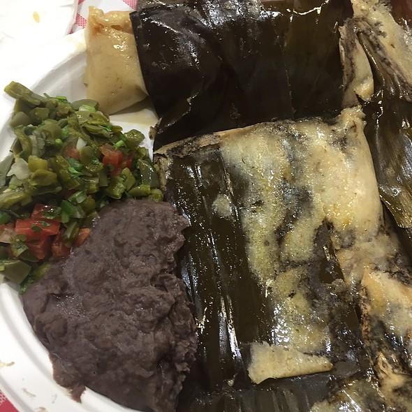 Oaxacan Tamale In Banana Leaves @ Pupuseria Marlenys