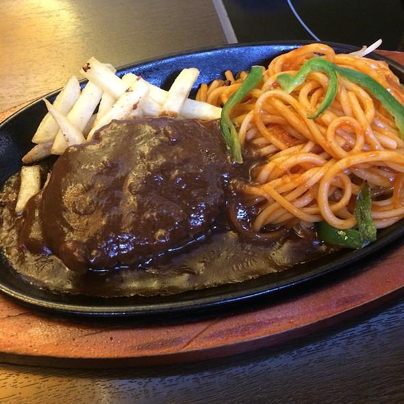 Hamburg Steak with Spaghetti Napolitana