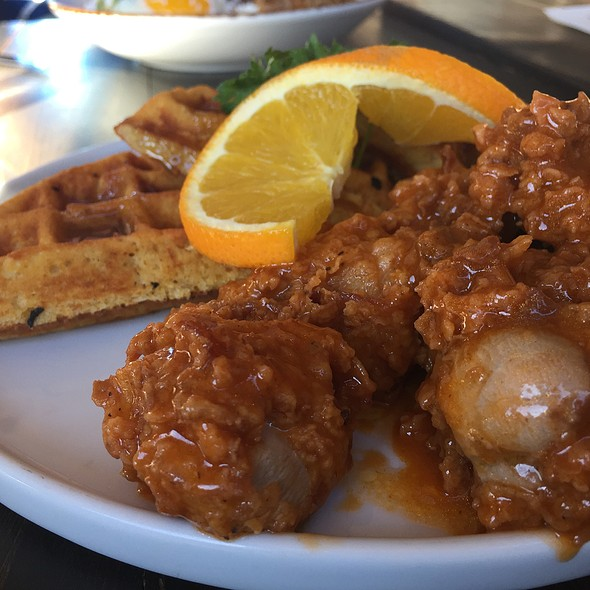 Chicken and Waffles @ Social