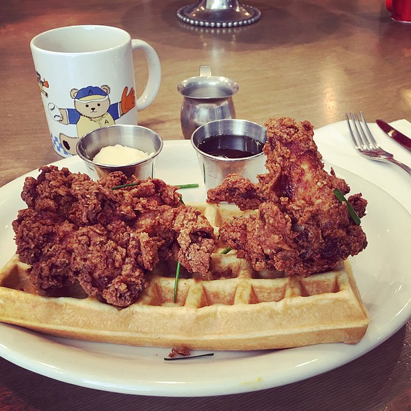 Chicken and Waffles @ Poppy & Rose