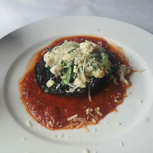 Portobello with Crabmeat and Gorgonzala Cheese