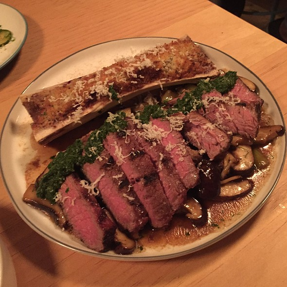 grilled shortrib, escargot, bone marrow, mushrooms, leeks, fresh horseradish @ Liholiho Yacht Club