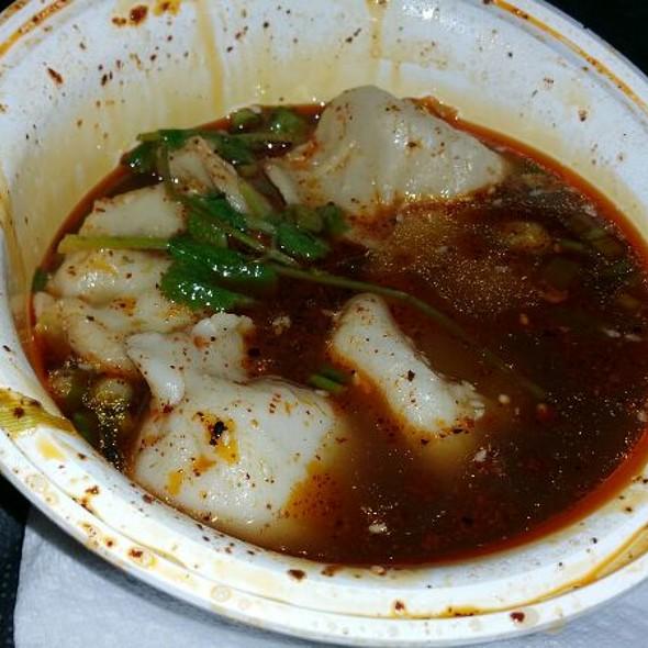 Spicy & Sour Lamb Dumplings In Soup