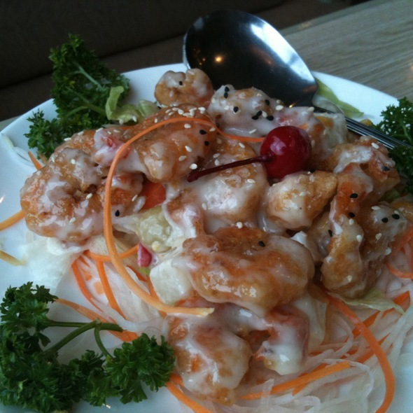 Hot Prawn Salad @ H.K. Choi