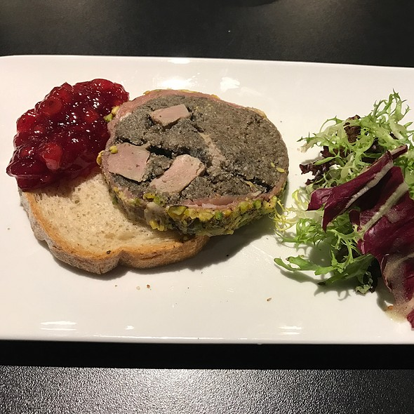 Duck Confit Terrine With Pistachios And Cranberry Relish