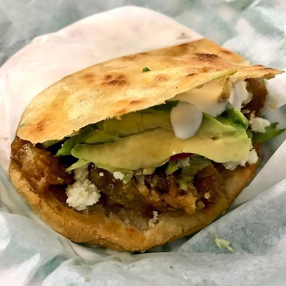 Porkbelly Gordita @ Mercado Real De La Villa, Meat Market & Taqueria