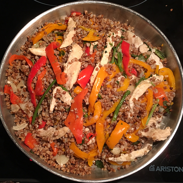 Chicken Fillet with Buckwheat and Vegetables