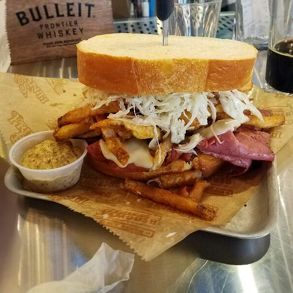 Pastrami And Cheese With Egg, Fries, And Coleslaw @ Primanti Brothers