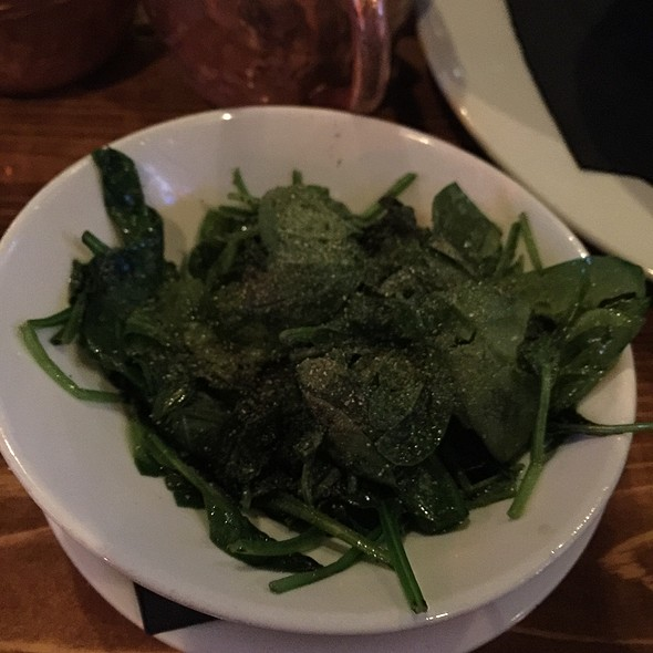 Sautéed Spinach @ On The Rocks Bar And Grill