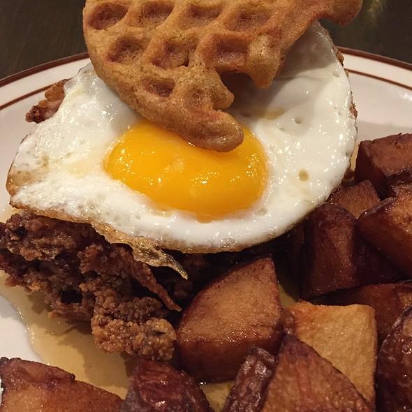 Chicken and Waffle Sandwich @ Hub & Spoke