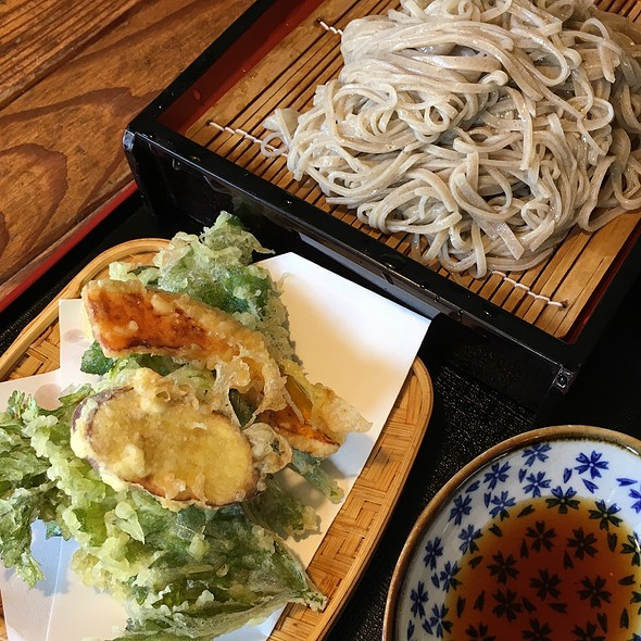 Cold Soba Noodle With Vegetable Tempura